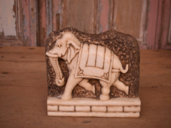 Marble Elephant Panel, Udaipur - Hand Carved